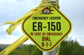 Emergency Locator Sign — Stock Photo