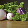 Fall vegetable medley in purple — Stock Photo