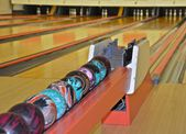 Bowling Balls at the Alley — Stock Photo