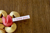 I love you - red fortune cookie — Stock Photo