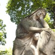 Statue of ancient angel on cemetery in Warsaw — Stock Photo #12488132