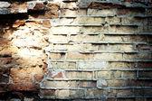Antigo fundo de parede de tijolo de grunge — Fotografia Stock