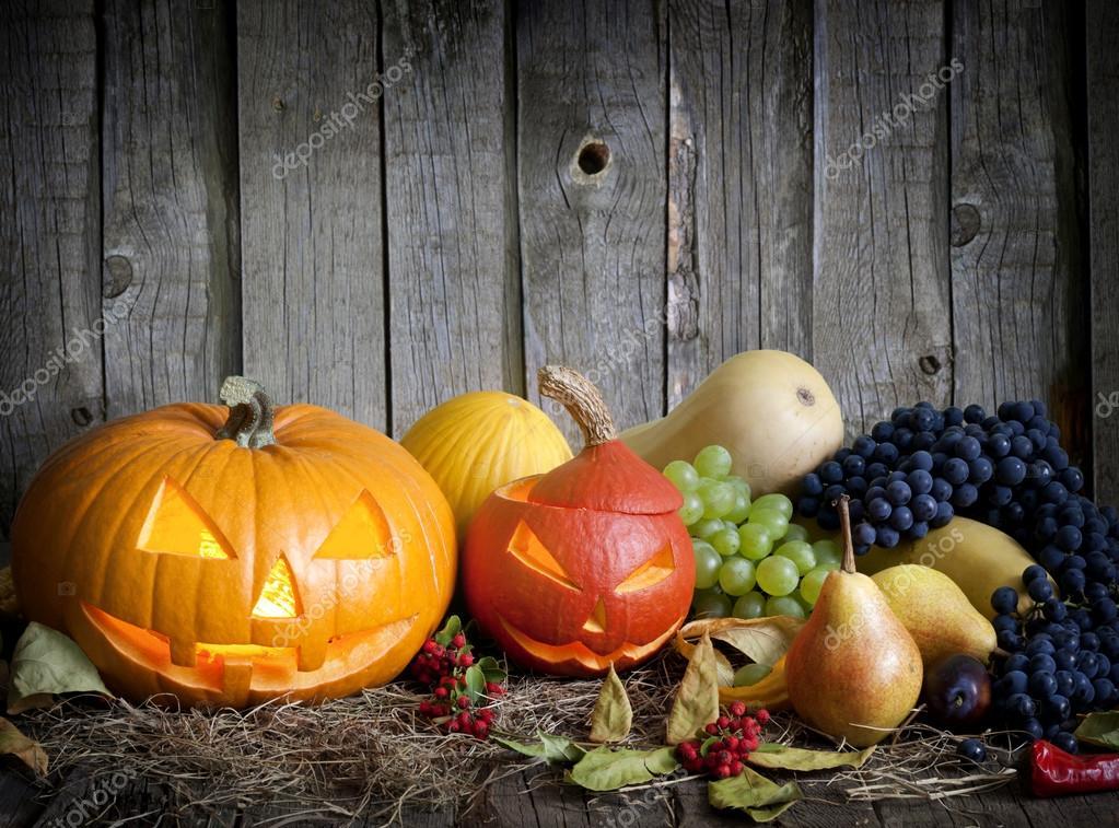 halloween k rbisse obst und gem se herbst stilleben stockfoto 12798800. Black Bedroom Furniture Sets. Home Design Ideas