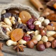 Nuts and dried fruits mix — Photo