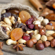 Nuts and dried fruits mix — Stock Photo #13851363