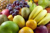 Fruits and vegetables colorful mixed assortment closeup — Stock Photo