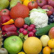 Fruits and vegetables mixed assortment — Stock Photo #13897479