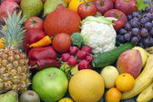 Fruits and vegetables mixed assortment — Stock Photo