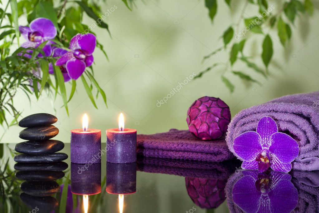 Decoracion Zen Velas ~ Descargar  Zen piedras orqu?deas velas arom?ticas y concepto de