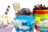 Colorful desserts mixed assortment — Stock Photo