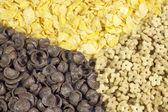 Textura pozadí corn flakes — Stock fotografie