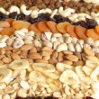 Dainty nuts and dried fruits mix — Stock Photo