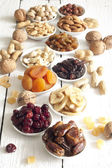 Dainty nuts and dried fruits mix — Photo