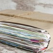 Wastepaper pile of newspapers closeup — Stock Photo