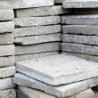 Pile of paving slabs background concept — Stock Photo