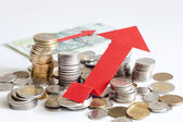 Stack of polish money increase finance abstract sign — Stock Photo