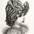Portrait of little victorian girl - Stock Photo