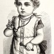 Portrait of little victorian baby — Stock Photo