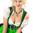 German girl in typical oktoberfest dress — Stock Photo #13178630