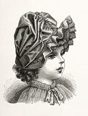 Portrait of little victorian girl — Stock Photo