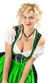 German girl in typical oktoberfest dress — Stock Photo