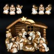 Stock Photo: Christmas crib. nativity scene