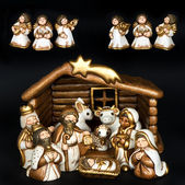 Christmas crib. nativity scene — Stock Photo