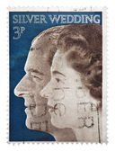 Silver wedding of Queen Elizabeth — Stock Photo