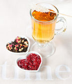 Teatime. Hearts — Stock Photo