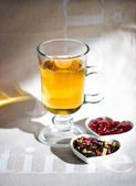 Tea time. sunny day afternoon — Stock Photo