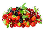 Mix of fresh berries — 图库照片