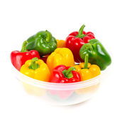 Red, green and yellow paprika — Stock Photo
