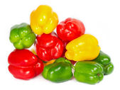 Bell pepper mix. red, green, yellow — Stock Photo