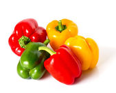 Bell pepper mix on white — Stock Photo