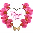 Beautiful orchid flower in heart shape — Stock Photo #13401306