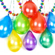 Assorted colorful balloons and garlands. party decoration — Stock Photo