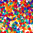 Colorful confetti background. red, blue, green, yellow - Stock Photo