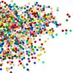Colorful confetti background — Stock Photo #13405322