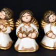 Stock Photo: Cute singing angels