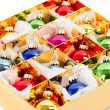 Multicolored baubles. christmas decoration — Stock Photo