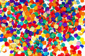 Colorful confetti background. red, blue, green, yellow — Stock Photo