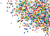 Colorful confetti party decoration on white background — Stock Photo