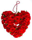 Red heart of roses — Stock Photo