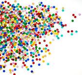 Färgglada konfetti bakgrund — Stockfoto