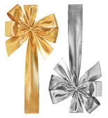 Golden and silver bow — Stock Photo
