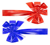 Red and blue bow — Stock Photo
