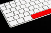 White blank keyboard with red button — Stock Photo