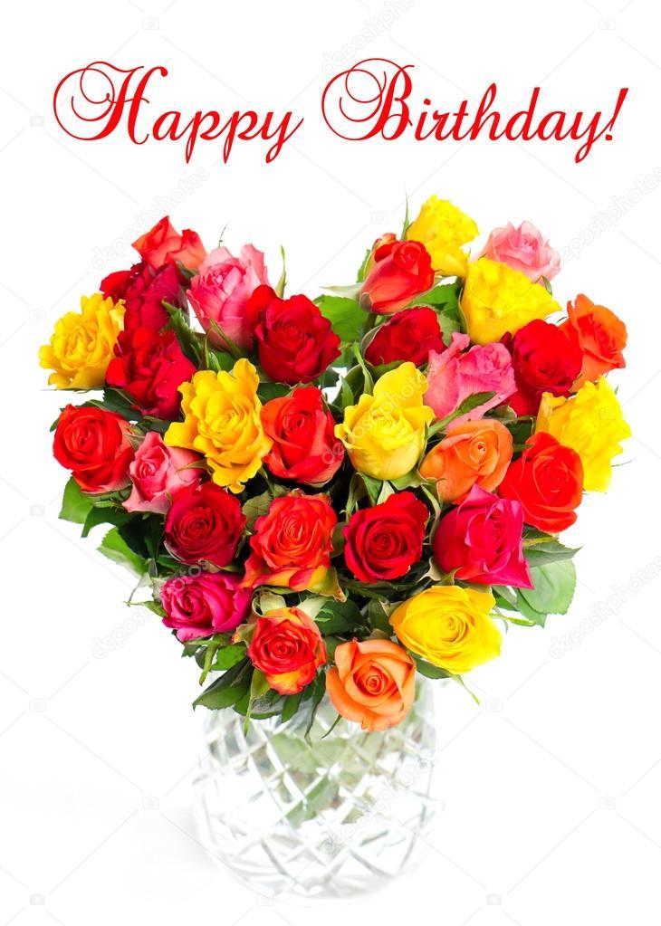Bouquet de roses dassortis color s en forme de coeur photographie liligraphie 13403200 - Bouquet de roses en forme de coeur ...