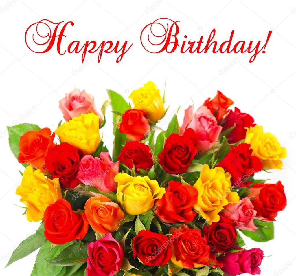 Открытки happy birthday женщине красивые английские с цветами 37