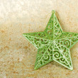 Green shiny christmas star — Stock Photo